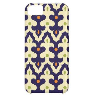 ガーリーなダマスク織のペイズリーのアラベスクのモロッコパターン iPhone5Cケース