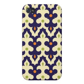 ガーリーなダマスク織のペイズリーのアラベスクのモロッコパターン iPhone 4/4Sケース