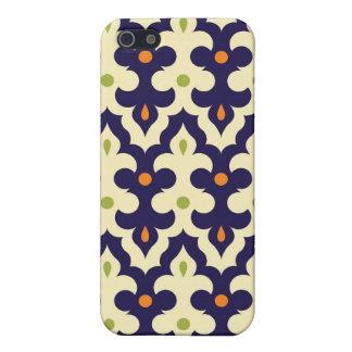 ガーリーなダマスク織のペイズリーのアラベスクのモロッコパターン iPhone SE/5/5sケース
