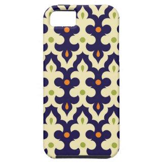 ガーリーなダマスク織のペイズリーのアラベスクのモロッコパターン iPhone SE/5/5s ケース