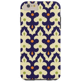 ガーリーなダマスク織のペーズリーのアラベスクのモロッコパターン TOUGH iPhone 6 PLUS ケース