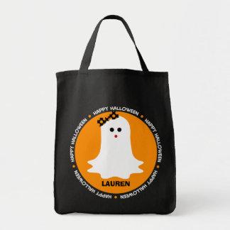 ガーリーなハロウィンの幽霊のトリック・オア・トリートのバッグ トートバッグ