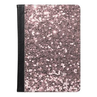 ガーリーなバレエのピンクの模造のなグリッターの輝きパターン iPad AIRケース