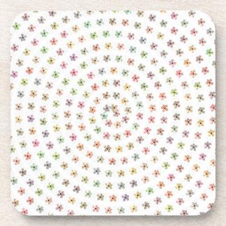 ガーリーなパステル調の花のハイビスカスのプラスチックコースター コースター