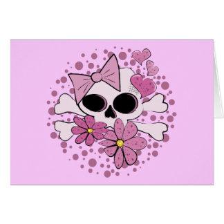 ガーリーなパンクのスカル カード