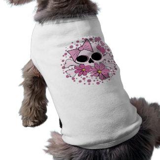 ガーリーなパンクのスカル ペット服