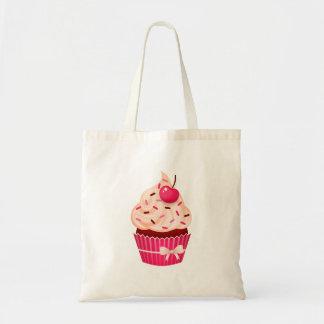 ガーリーなピンクのカップケーキはとのさくらんぼ振りかけ、 トートバッグ