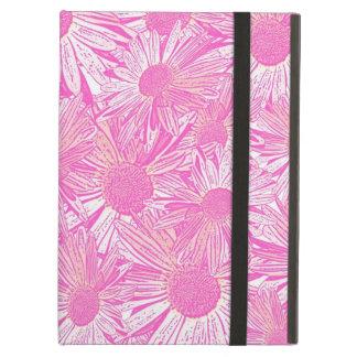 ガーリーなピンクのデイジー iPad AIRケース