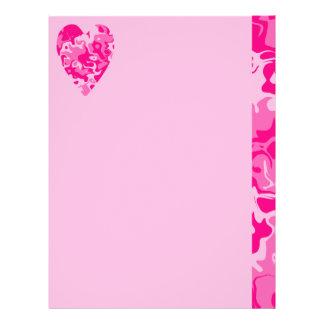 ガーリーなピンクのハートのバレンタインデー チラシ