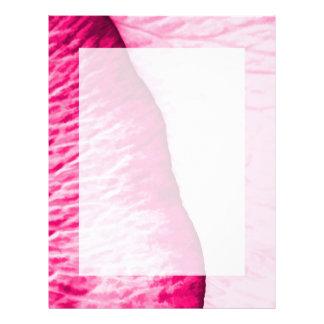 ガーリーなピンクのバラの抽象芸術 レターヘッド