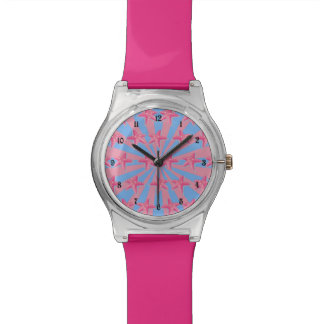 ガーリーなピンクのヒトデ 腕時計