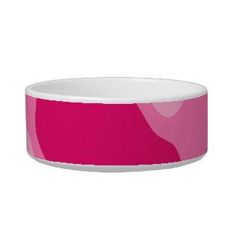 ガーリーなピンクのモノグラム ボウル