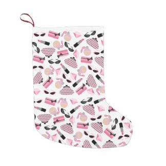 ガーリーなピンクの付属品のクリスマスのストッキング スモールクリスマスストッキング
