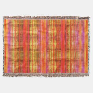 ガーリーなピンクの抽象美術パターン スローブランケット