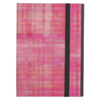 ガーリーなピンクの抽象美術パターン iPad AIRケース