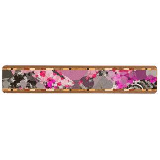 ガーリーなピンクの灰色の抽象芸術 キーラック