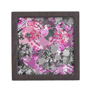 ガーリーなピンクの灰色の抽象芸術 ギフトボックス