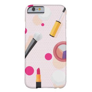 ガーリーなピンクの点の化粧の一定のiPhone 6/6sの場合 Barely There iPhone 6 ケース
