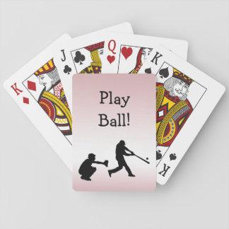ガーリーなピンクの野球演劇の球のトランプ トランプ