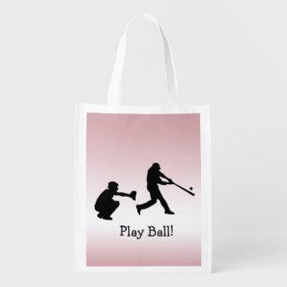 ガーリーなピンクの野球演劇の球の再使用可能なトートバック エコバッグ