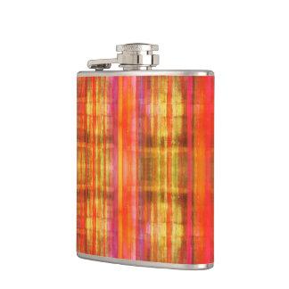 ガーリーなピンクの黄色く赤い縞模様 フラスク