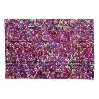 ガーリーなマゼンタのピンクの模造のなスパンコール 枕カバー