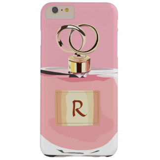 ガーリーなモノグラムの美しいのピンクのスタイリッシュな香水瓶 BARELY THERE iPhone 6 PLUS ケース