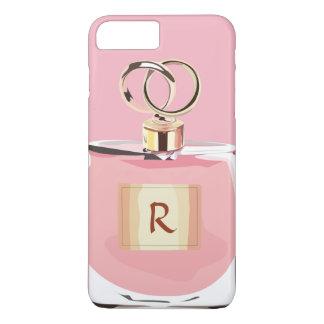 ガーリーなモノグラムの美しいのピンクのスタイリッシュな香水瓶 iPhone 8 PLUS/7 PLUSケース