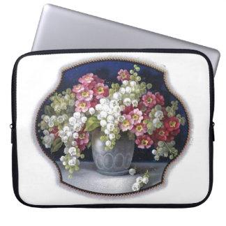 ガーリーなレトロの粋ないくじなしのヴィンテージのつぼの花柄 ラップトップスリーブ