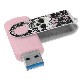 ガーリーなヴィンテージのスカル USBフラッシュドライブ