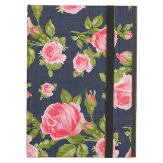 ガーリーなヴィンテージのバラの花柄 iPad AIRケース