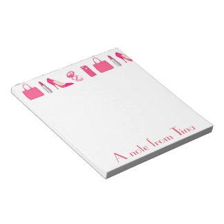 ガーリーな事のデザイン ノートパッド