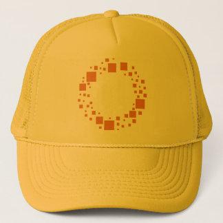 ガーリーな円は眩暈がするようなオレンジパターン柑橘類を平方します キャップ
