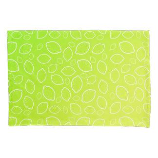 ガーリーな夏新しい緑の黄色いレモンパターン 枕カバー