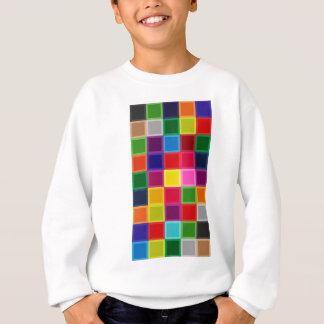 ガーリーな多色のな正方形およびストライプ スウェットシャツ