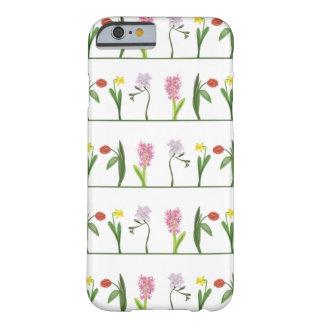 ガーリーな春の花の列 BARELY THERE iPhone 6 ケース