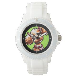 ガーリーな杏子のプードルの以外鎖Art™ 腕時計