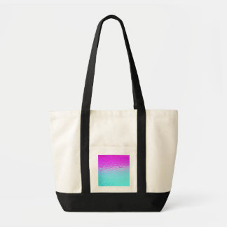 ガーリーな紫色のターコイズのグラデーションなモザイク《写真》ぼけ味パターン トートバッグ
