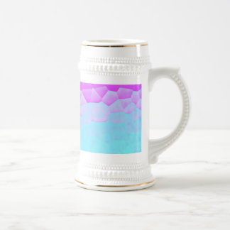 ガーリーな紫色のターコイズのグラデーションなモザイク《写真》ぼけ味パターン ビールジョッキ