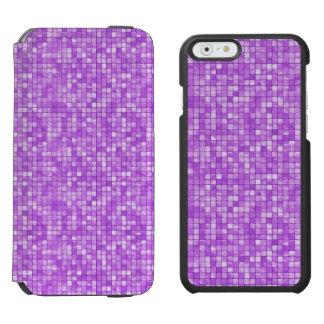 ガーリーな紫色の幾何学的な織り目加工のタイルパターン INCIPIO WATSON™ iPhone 6 ウォレットケース