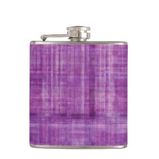 ガーリーな紫色の縞模様 フラスク