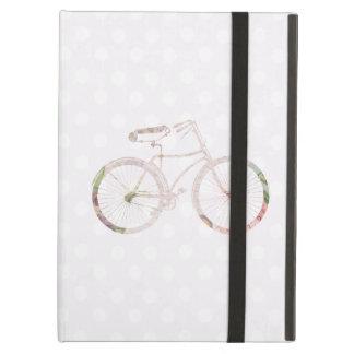 ガーリーな花の自転車 iPad AIRケース