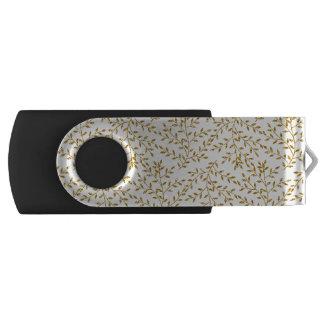ガーリーな花の金ゴールドのグリッターの写真のプリント USBフラッシュドライブ