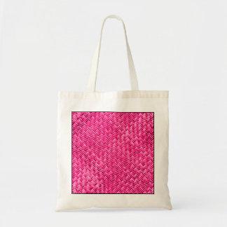 ガーリーな赤紫の斜子織幾何学的なパターン トートバッグ
