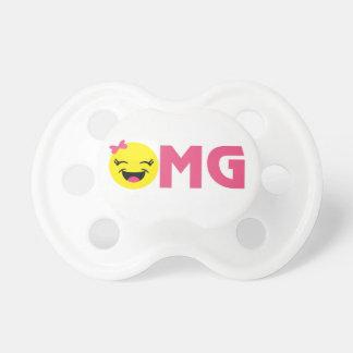 ガーリーなOMG Emoji おしゃぶり