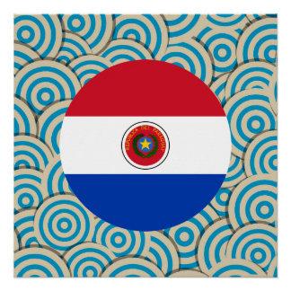 ガーリーなParaguayanの旗のギフト ポスター