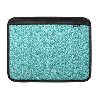 ガーリー、印刷されるおもしろいの水の青いグリッター MacBook スリーブ
