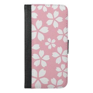 、ガーリー、淡い色の、ピンク、かわいいのパターン、テンプレート、花柄シック、 iPhone 6/6S PLUS ウォレットケース