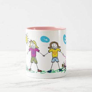 ガールフレンドのマグ ツートーンマグカップ