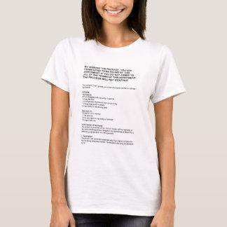 ガールフレンド免許証を収縮包装して下さい Tシャツ